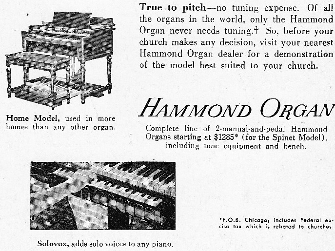 Hammond Times Promotional Magazine 1953 | Preservation Sound