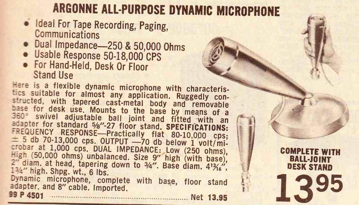 Lafayette Microphones Of The 1960s Preservation Sound Wiring Diagrams A