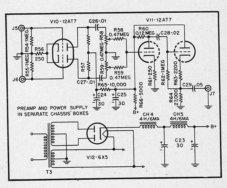 on hi fi tone control pre schematic