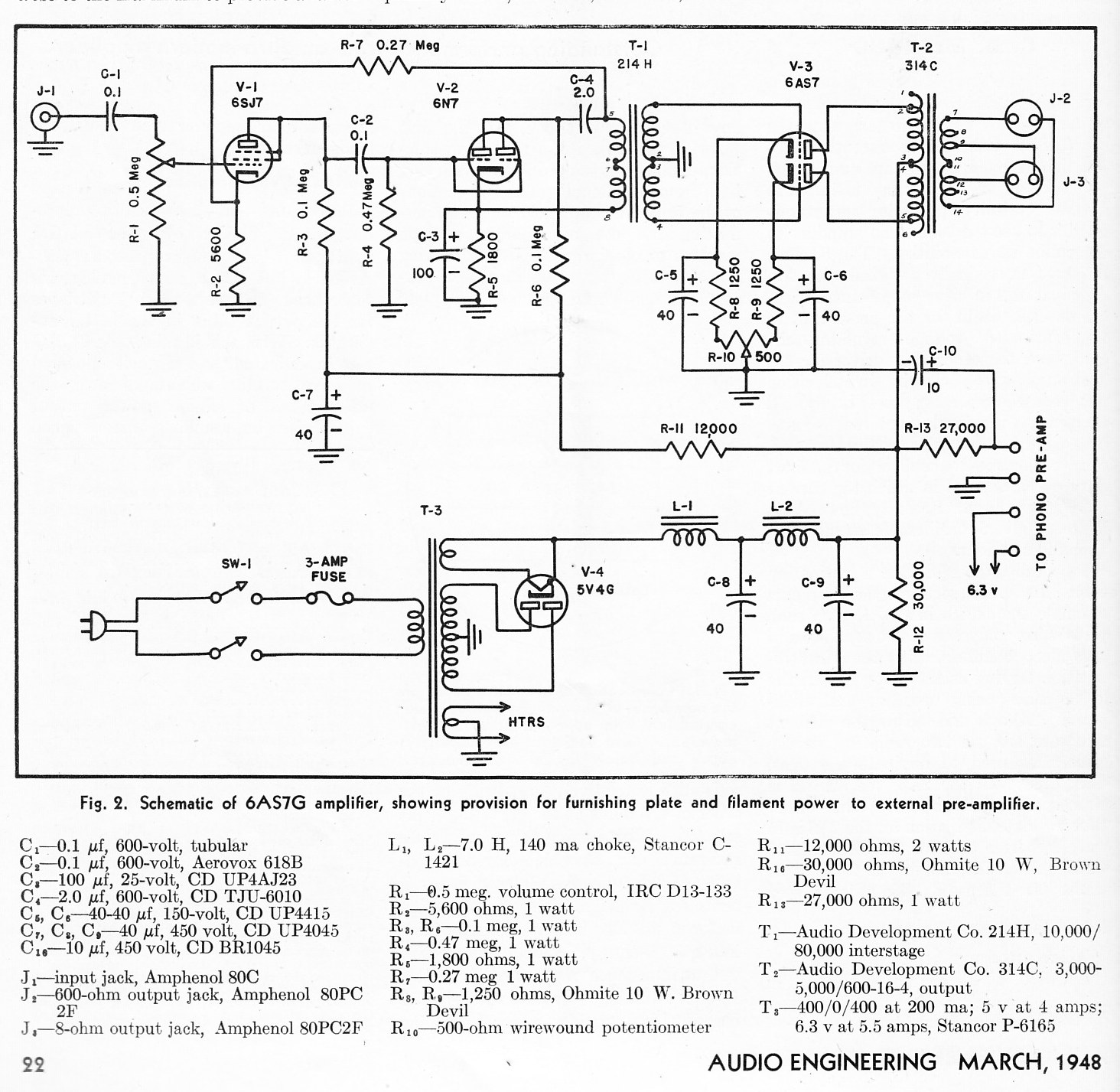 Engineering Schematics Wiring Diagram Electric Guitar Wire 2 Volumms 1tone Humbuckers Audio Magazine Pt 4 Preservation Soundengineering 12