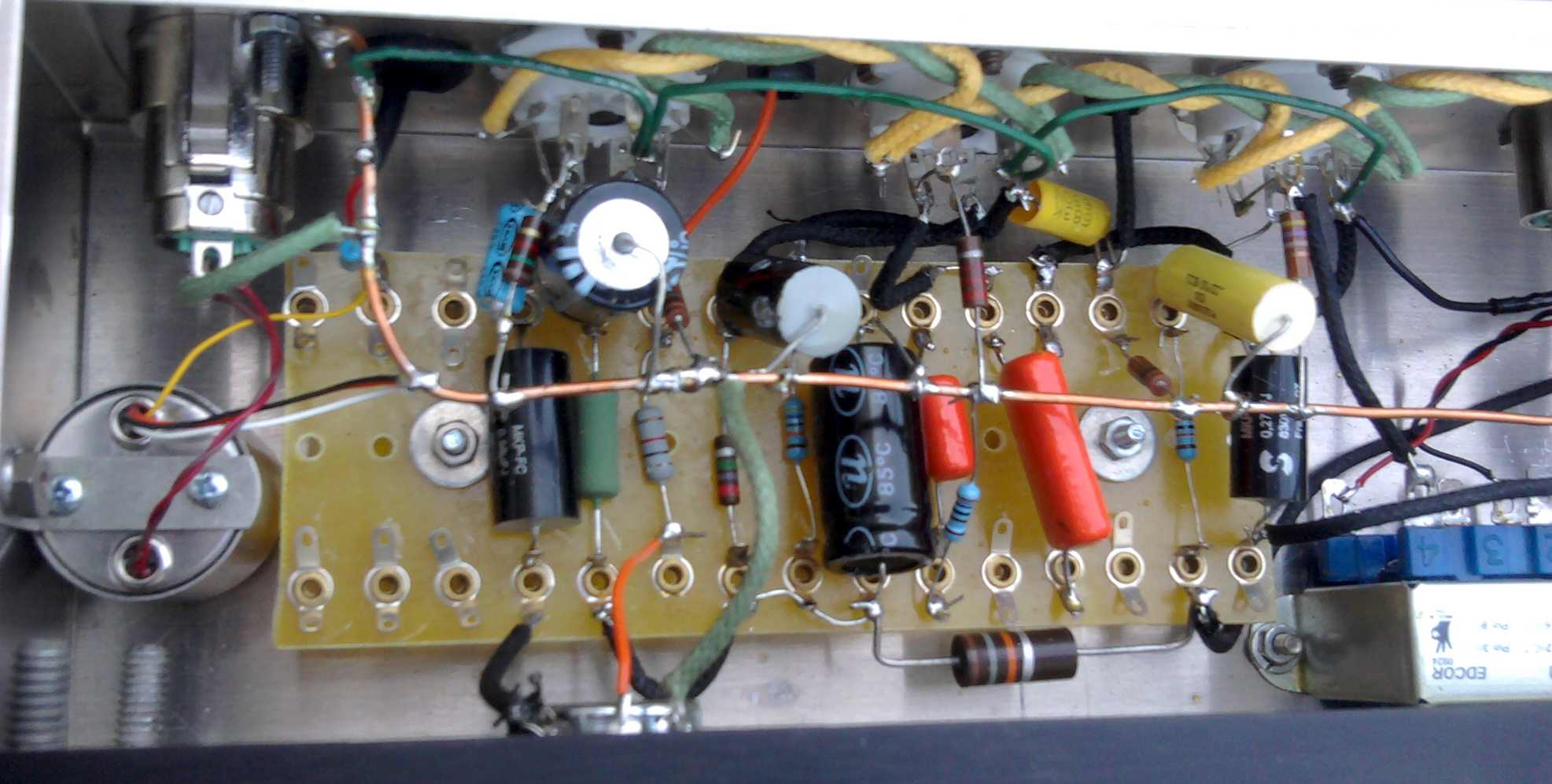 Building An Almost Rca Op6 Mic Preamp Preservation Sound Power Wiring Diagram The Audio Portion Of Circuit