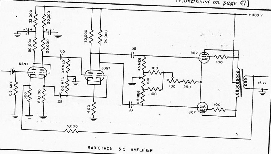 807 Tube Transmitter Schematic Diagram