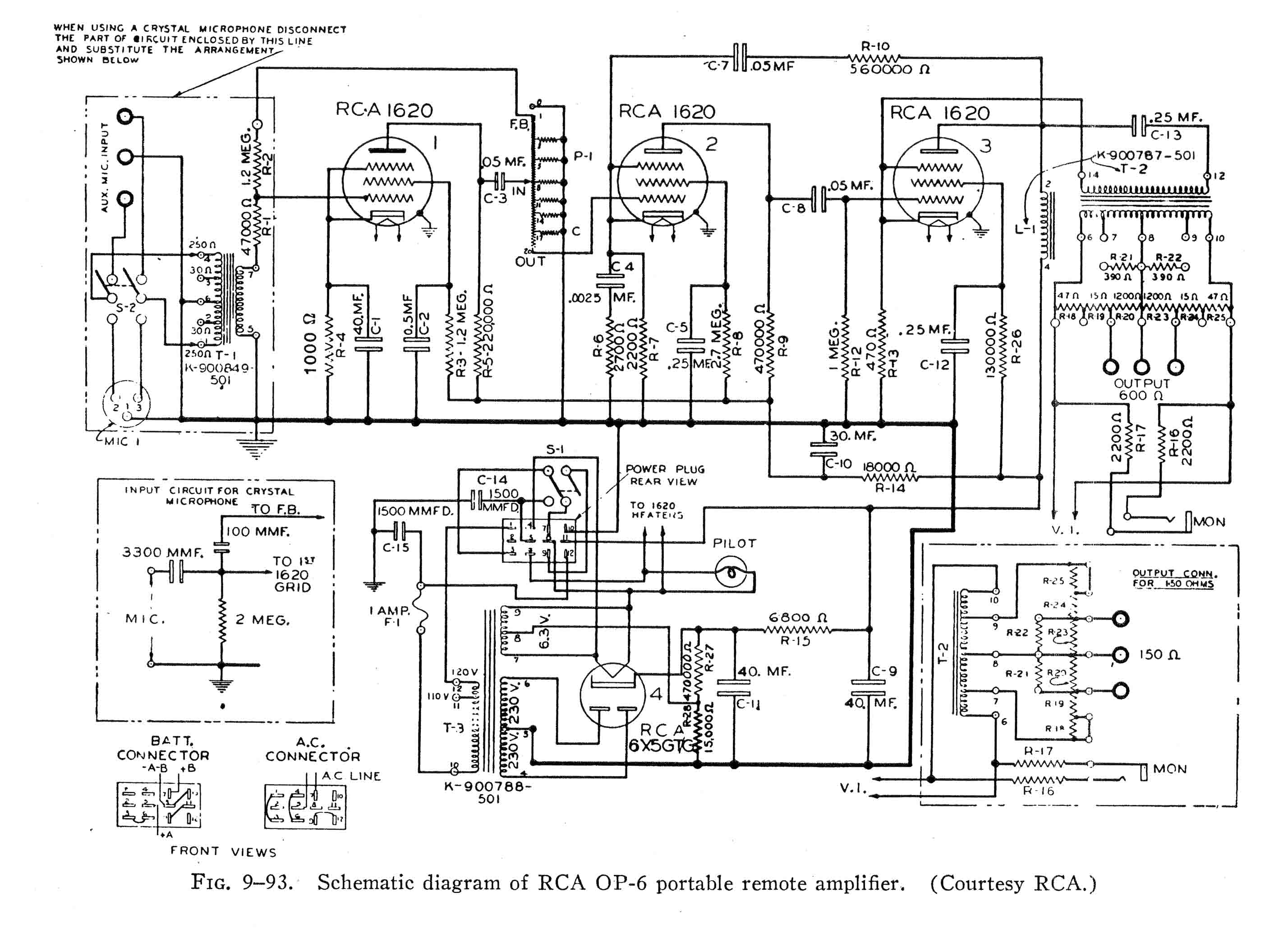 Building An Almost Rca Op6 Mic Preamp Preservation Sound Audio Mixer Circuit The Op 6 Schematic