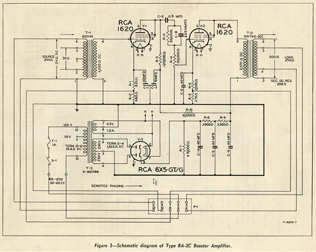 building an almost rca op6 mic preamp preservation sound the ba 2 schematic is pictured above the input stage uses a 1620 tube wired as a triode a 100k ohm pot following it so i just took this input stage