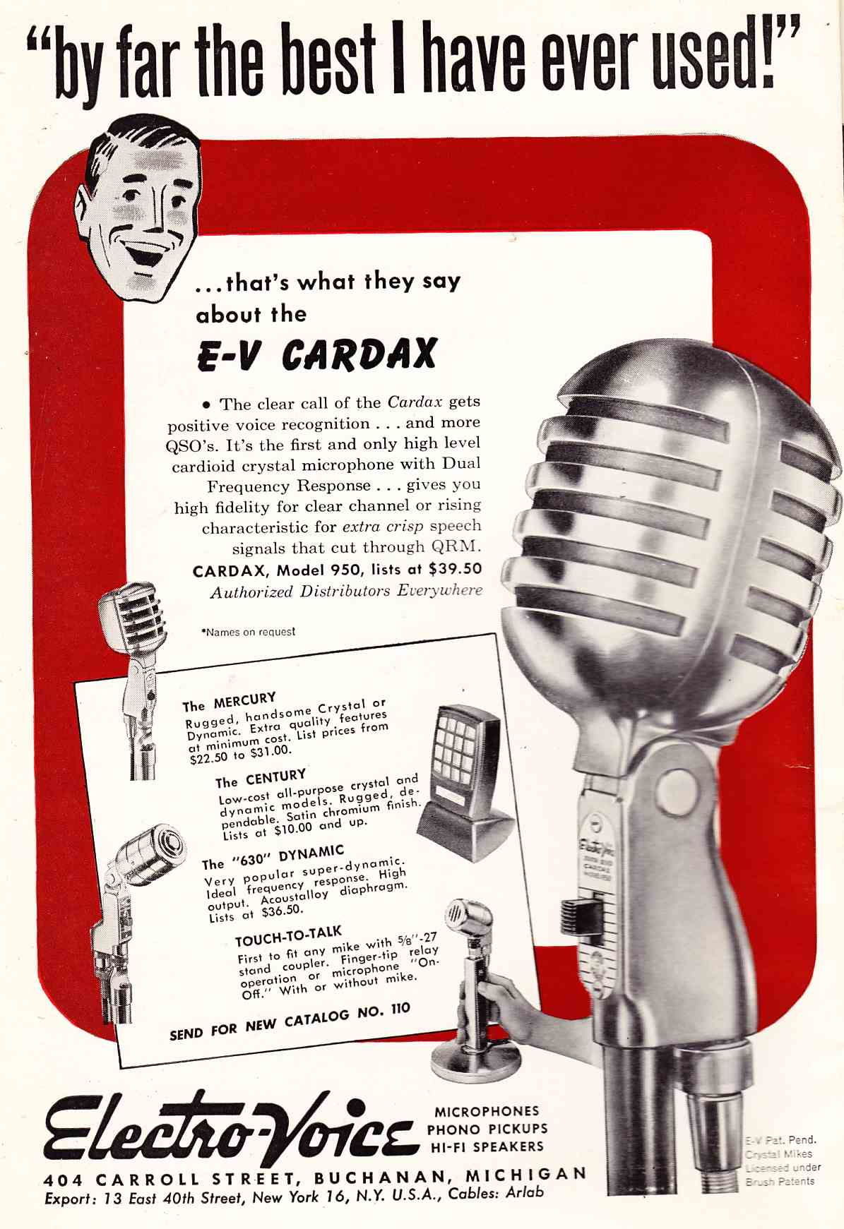 Radio Communications Mics Of The 1940s Part 2 Preservation Sound Dynamic Microphone Amplifier Using Transistors Electrovoice Cardax Crystal Cardiod