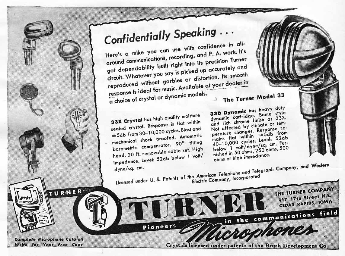 Turner Ham Microphones Of The 1940s Preservation Sound Microphone Wiring Diagram Model 22