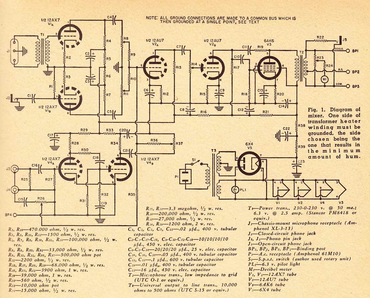 Audio Tube Wiring Library Compactron Amplifier Schematic Mixerschematics