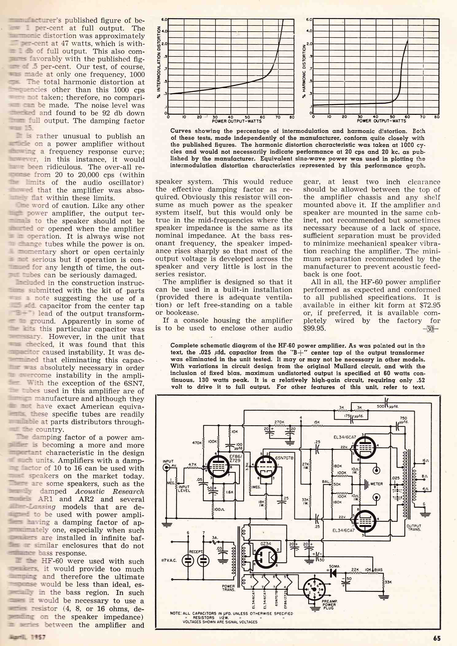 Vacuum Tube Hi Fi Preservation Sound Rectifier Circuit For Amp Tubeamplifier Audiocircuit Eico Was Essentially The Other Heathkit Eicos Could Be Purchased Either Wired Or As Kits Heres A Two Page Article On Their Flagship Hf60