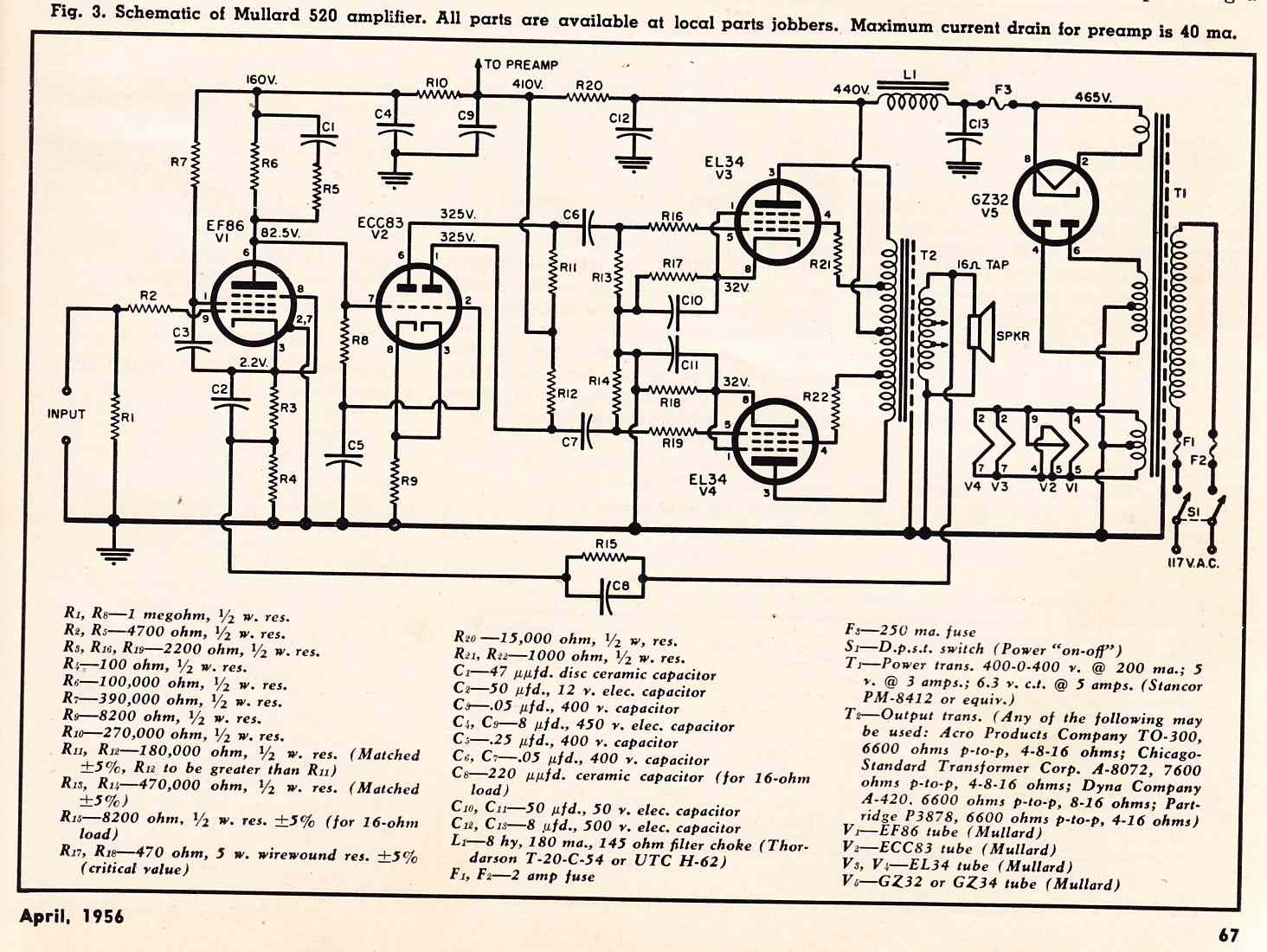 vacuum tube preamp schematic  | preservationsound.com