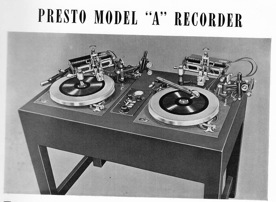 UDPATED (4): Presto Recording Corp: Pioneers of 'Instant