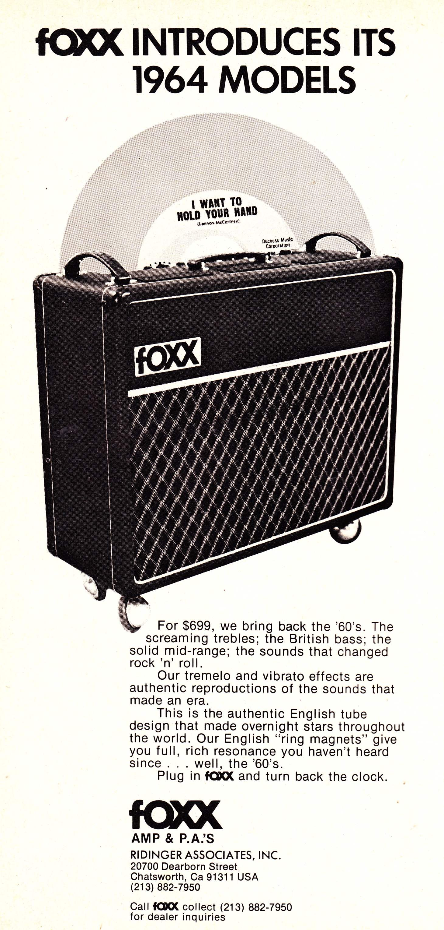 Boxxes Of Foxxes Preservation Sound Guitar Circuits And Schematics Fuzzi Amps Other Effects Besides The Iconic Foxx Pedals Also Sold Amplifiers Lets See If You Have A Company Named Want To Sell Some What Famous Amp