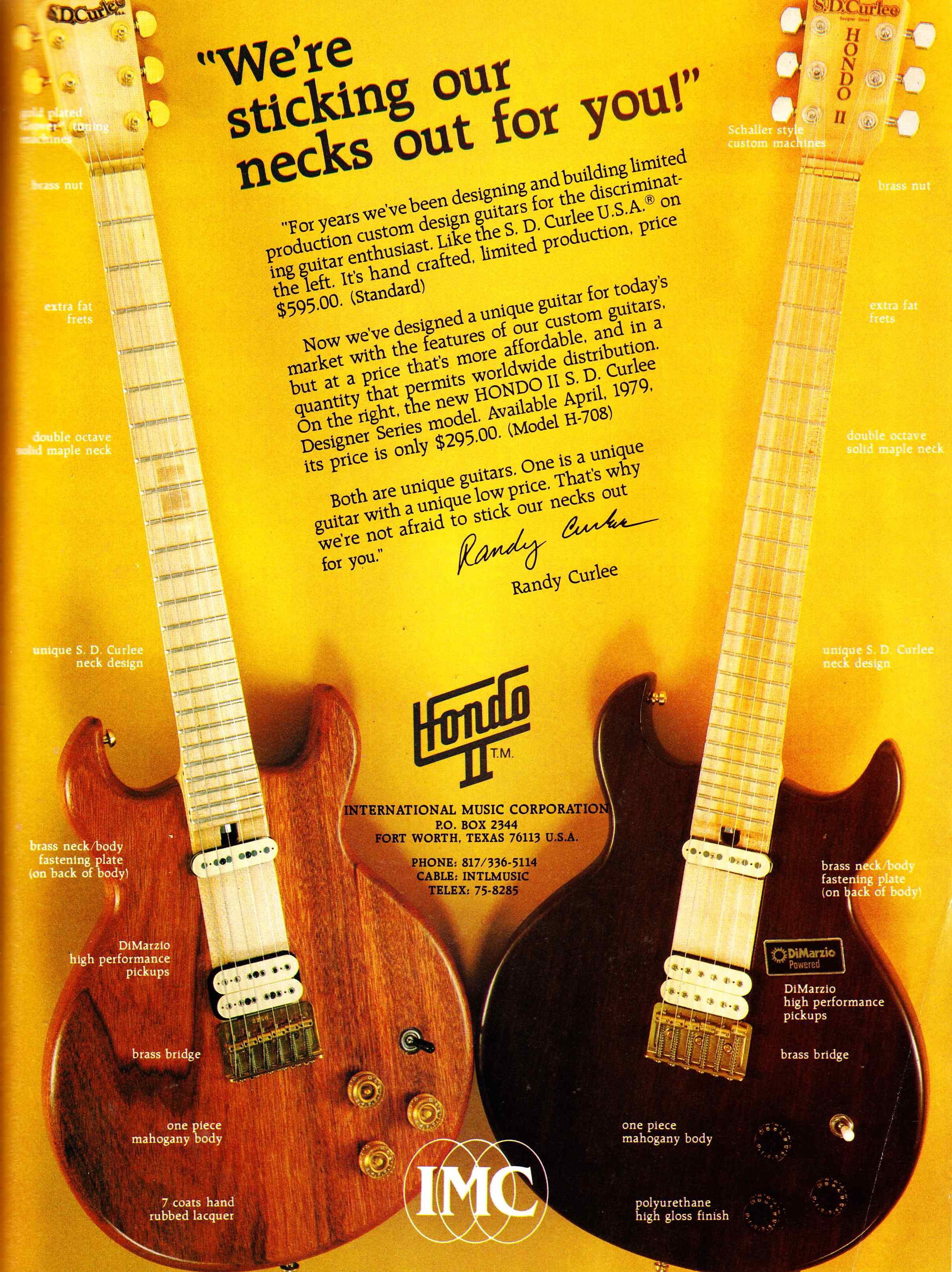 The Unique Guitar Blog Samick Musical Instrument Company 1960 Fender Stratocaster Wiring Diagram Hondo Ii Sd Curlee