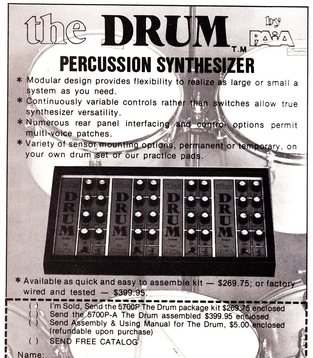 PAiA : Synth DIY circa late 70's | Preservation Sound