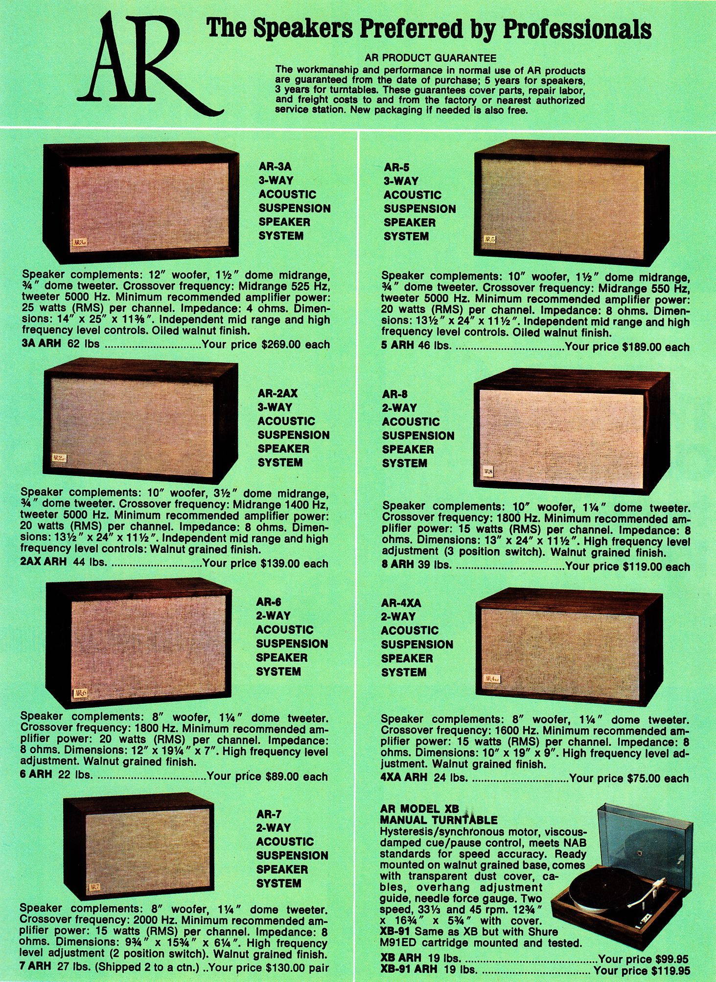 Yard Sale Speakers Spotters Guide 4 Ar And Klipsch Sound System