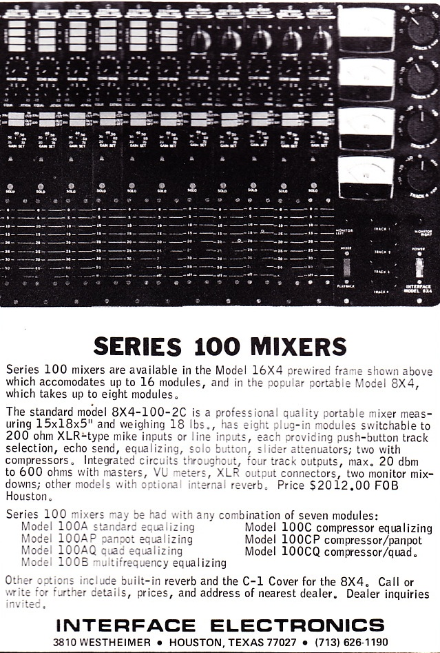 Interface_series_100_mixer_1973