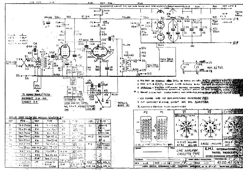 tube microphone preamp schematic