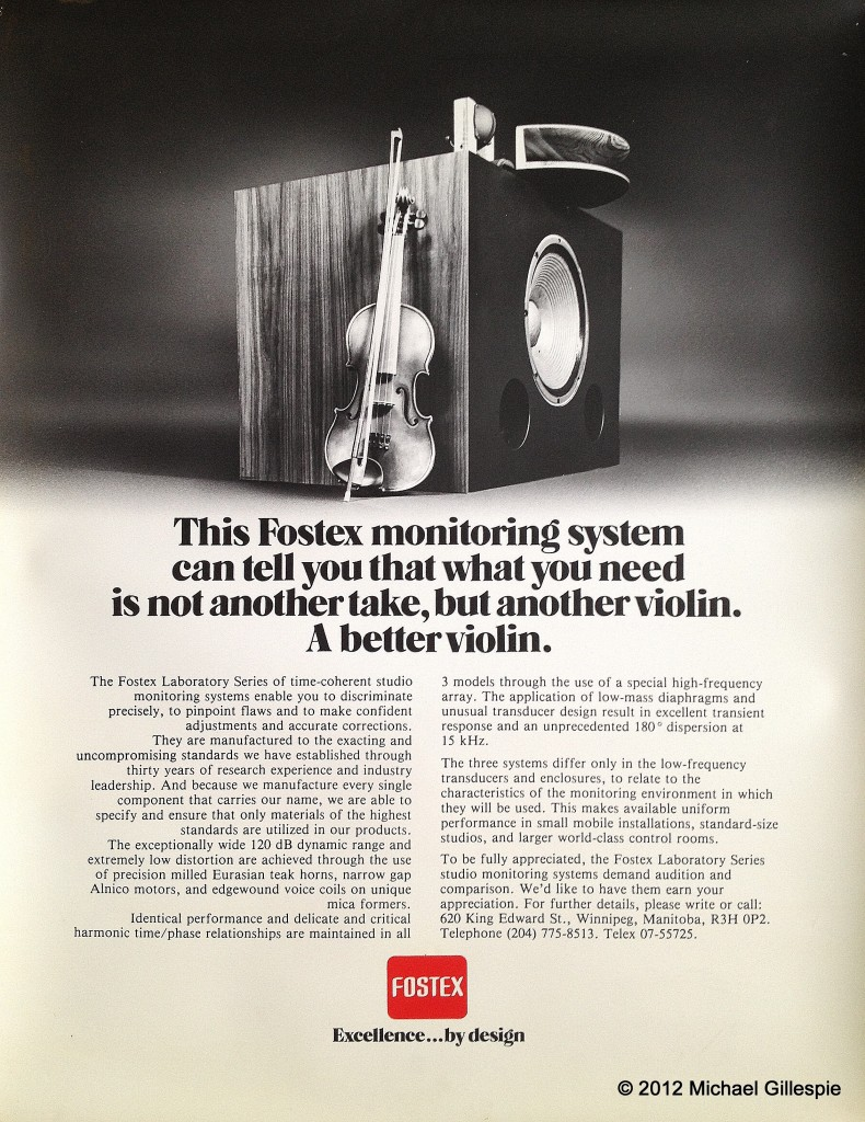 Fostex LS3 Advert