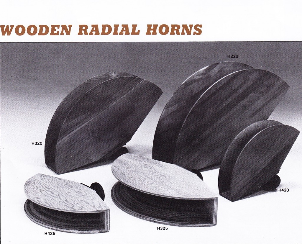 Fostex_Wooden_radial_horns_1981