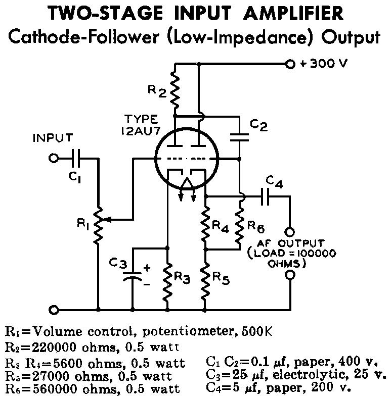 12AU7-Cathode-Follower-Schematic