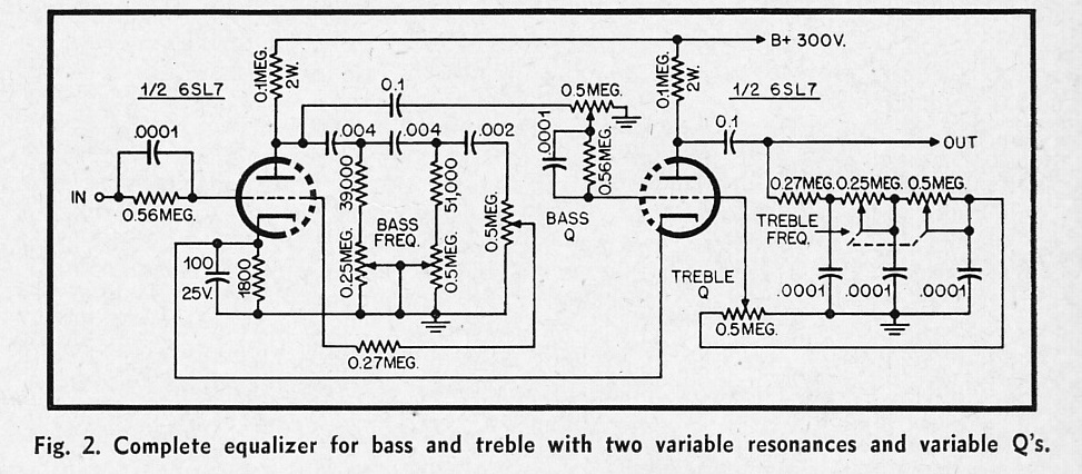 stereo vacuum tube studio eq based on 1955 circuit