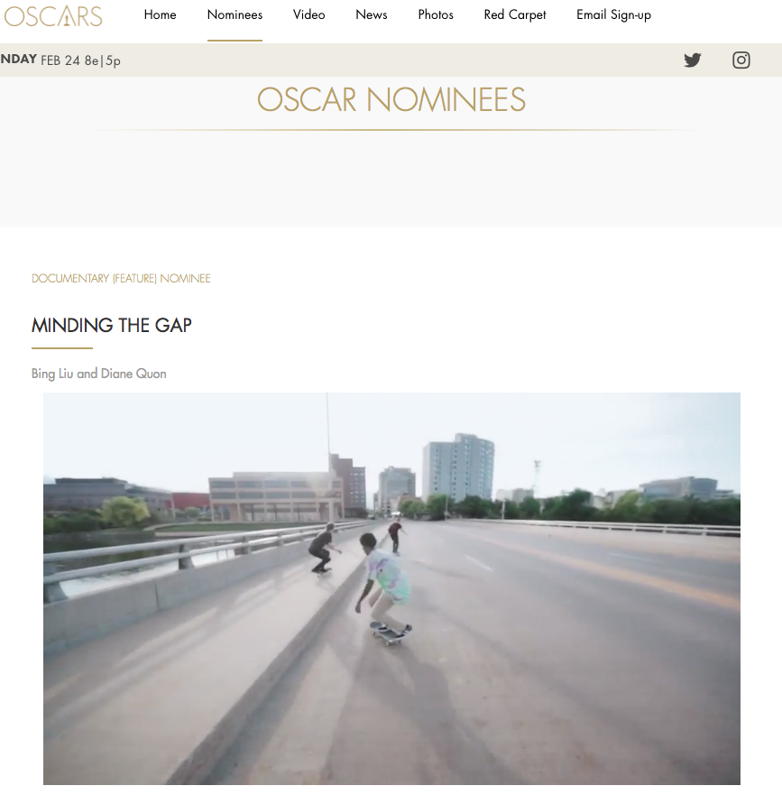 "Academy Awards 2019: ""Minding the Gap"" with score by Halpern"