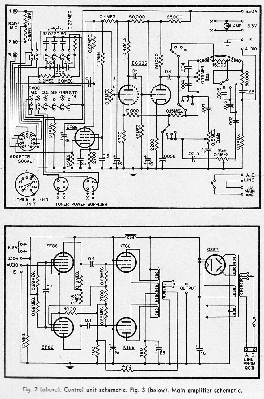 Hi Fi Amplifier Schematics C 1954 Preservation Sound Pre Lifier Circuit Likewise 5 Band Graphic Equalizer Diagrams The